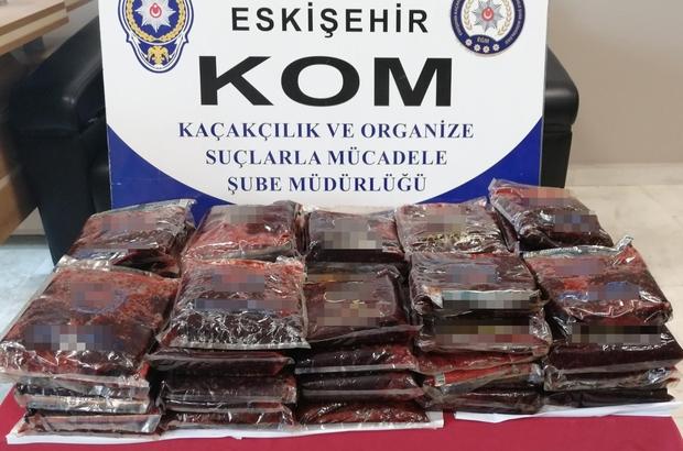 Eskişehir'de 47 kilogram kaçak nargile tütünü ele geçirildi