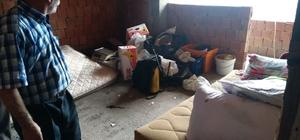 İnşaat halindeki evde yaşayan vatandaşa yardım eli
