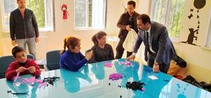 Başkan Geylani'den özel çocuklara ziyaret
