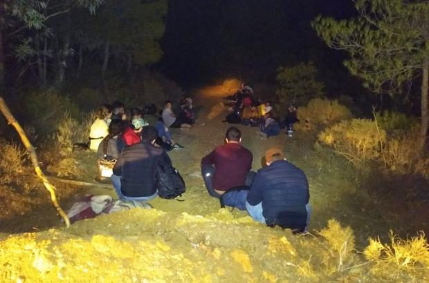 Datça'da karada ve denizde 51 kaçak göçmen yakalandı Muğla'nın Datça ilçesinde karada ve denizde Sahil Güvenlik ekipleri tarafından 51 düzensiz göçmen yakalandı.