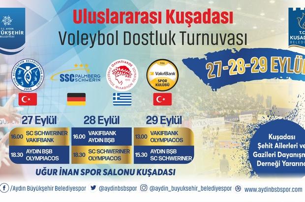 Aydın'ın Sultanları, parkeye iniyor Kuşadası Voleybol Turnuvası yarın başlıyor
