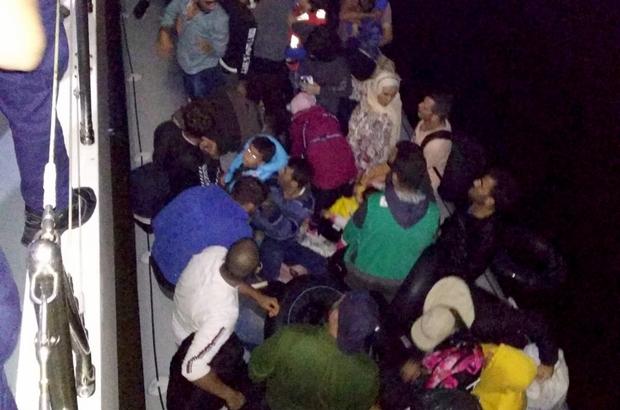 Didim'de 46 göçmen yakalandı Aydın'ın Didim ilçesinde lastik bot içerisinde 15'i çocuk 46 düzensiz göçmen yakalandı.