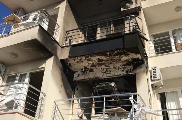 Didim'de otel yangını