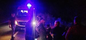 Denizli'de trafik kazası: 5 yaralı Köpeğe çarpmamak isteyince şarampole yuvarlandı