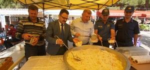 Osmancık'ta sürücülere pilav dağıtıldı Yılın ilk pirinç mahsülünü 2 bin kişi tadacak