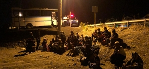 Ayvalık'ta 132 düzensiz göçmen ve 1 organizatör yakalandı