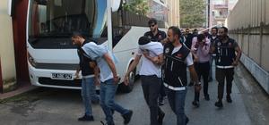 Kocaeli polisinden torbacı operasyonu: 11 gözaltı