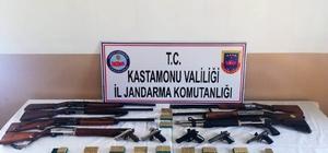Kastamonu'da silah ve uyuşturucu operasyonu: 2 gözaltı Operasyon yapılan evden cephanelik çıktı