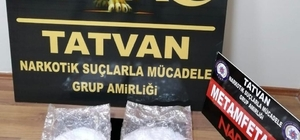 Bitlis'te 972 gram metamfetamin ele geçirildi
