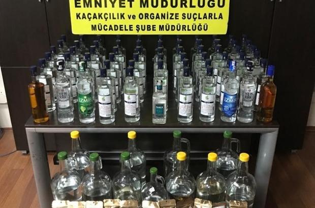 Kaçak içki üreten market sahibine operasyon
