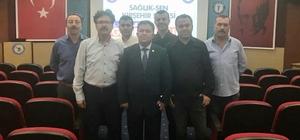 Sağlık-Sen Kırşehir Şubesinde görev değişimi Olağanüstü kongre ile Yasin Yücesan, 2. kez sendika başkanı oldu