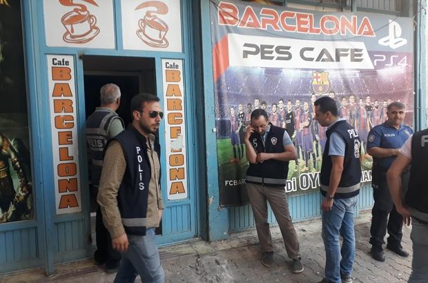 İslahiye'de internet kafe, iddia bayii ve oyun salonlarına polis denetimi