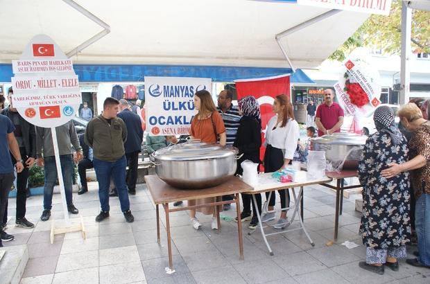 Manyas'ta Barış Pınarı Harekatı için aşure hayrı