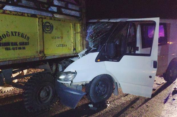 Gaziantep'te midibüs ile traktör çarpıştı: 5 yaralı