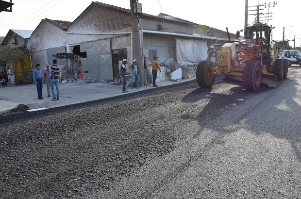 Marangozlar Sitesi ile Çay Deresinde asfalt çilesi bitiyor Marangozlar sitesi toz ve çamurdan kurtuluyor