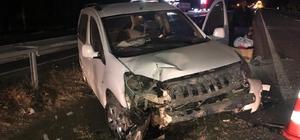 Yola çıkan domuz 3 ayrı kazaya neden oldu: 6 yaralı