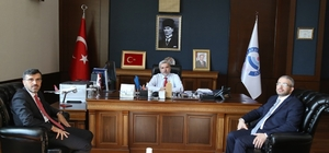 BOTAŞ yöneticileri Rektör Şahin'le görüştü