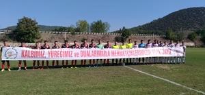 Barış Pınarı Harekatı'na destek pankartı ile maça çıktılar