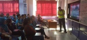 Karpuzlu'da öğrenciler trafik eğitimi aldı