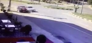 Kazadan son anda kurtuldu Bartın'da otomobiller çarpıştı