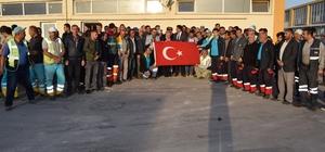 İşçilerden Fetih Suresiyle Barış Pınarı Harekatına Destek