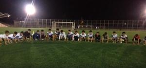 Başakpınarlı minik futbolculardan Mehmetçiğe destek