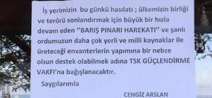 Balıkçı iş yerinin bir günlük hasılatını Barış Pınarı Harekatı'na destek için bağışladı