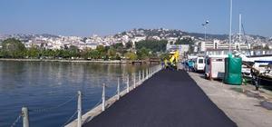 İzmit Marina'ya 400 ton asfalt serildi
