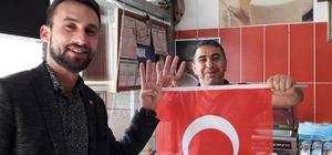 Ak Genç Develi'den Mehmetçiğe Bayraklı Destek