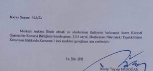Cumhurbaşkanı Erdoğan imzası ile KGY'ye onay
