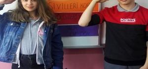 Çankırılı öğrencilerden Mehmetçiğe selam