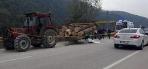 Traktörden çıkan römork devrildi: 1 ölü