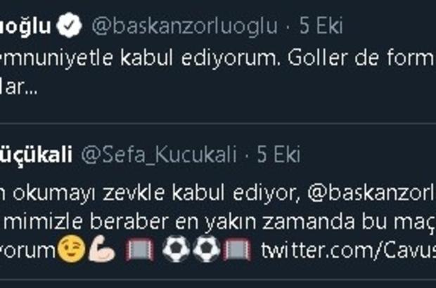 Belediye Başkanı Zorluoğlu gençlerin sosyal medyadan yaptığı maç isteğini kırmadı