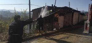 Boyabat'ta ev yangını