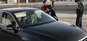 Kırıkkale'de jandarma ve polisten trafik denetimi