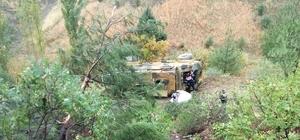 Kahramanmaraş'ta askeri araç devrildi: 4 yaralı
