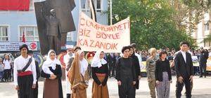 Gaziantep'in ilçelerinde Cumhuriyet coşkusu