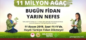"""Büyükşehir'den """"geleceğe nefes"""" kampanyasına destek Bin dönüme 100 bin fidan dikilecek"""