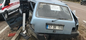 Boyabat'ta trafik kazası: 1 ölü