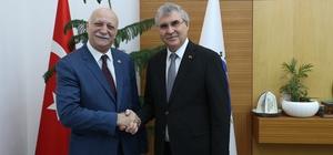 TZOB Genel Başkanı Şemsi Bayraktar'dan Yüce'ye ziyaret