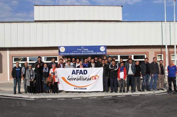 Erzurum AFAD gönüllüleriyle buluştu