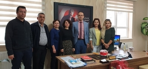 Sultanhisar Halk Eğitim Merkezi Müdürü Atay'a doğum günü sürprizi