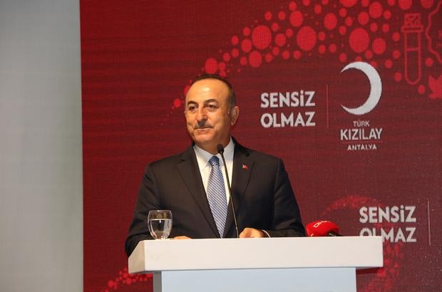 """Bakan Çavuşoğlu: """"Terör devleti kurmak isteyenlerin oyununu başlarına devirdik"""" Dışişleri Bakanı Mevlüt Çavuşoğlu: """"Sert güç dediğimiz o gücü gösterebiliriz ama kalıcı olan yumuşak güçtür"""" """"Çatışmaların yüzde 60'ı bizim coğrafyamızda"""" Antalya'da """"Kızılay Dostları Gecesi"""" düzenlendi"""