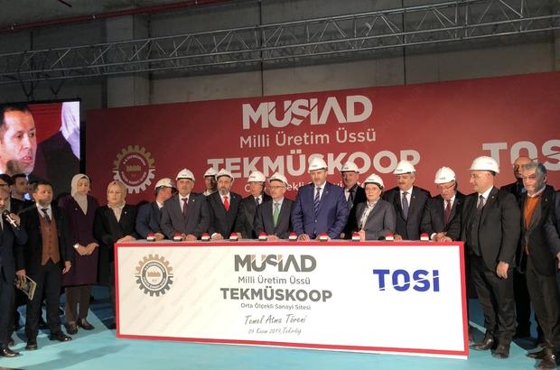 Milli Üretim Üssü'nün temeli atıldı TEKMÜSKOOP'un temeli düzenlenen törenle atıldı