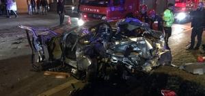 3 kişinin öldüğü 7 kişinin yaralandığı kaza anı kamerada