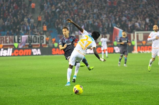 Süper Lig: Trabzonspor: 1 - Alanyaspor: 0 (Maç sonucu)