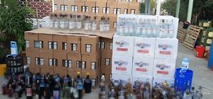 Yılbaşı öncesi dev operasyon Tekirdağ'da 2 buçuk ton kaçak içki ele geçirildi 52 bin 765 lira ve 900 Euro nakit paraya el konuldu