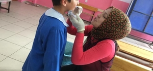Kastamonu'da öğrencilere diş taraması yapıldı