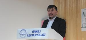 """Doç. Dr. Kara: """"Evlilik sultanlıktır"""" Türkeli'de """"Peygamberimiz ve Aile"""" konferansı"""