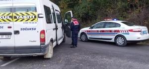 Jandarma ekipleri, okul servislerini denetledi